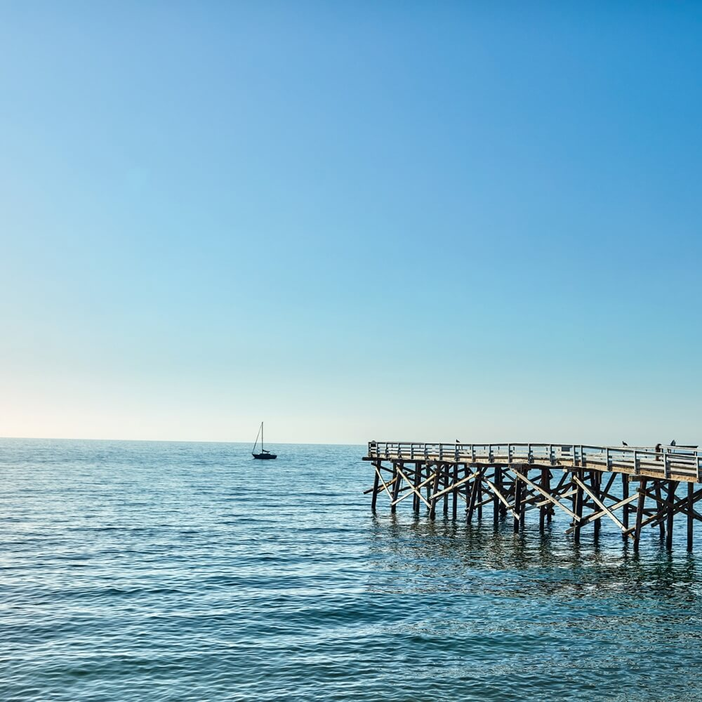 Photo of a beach pier