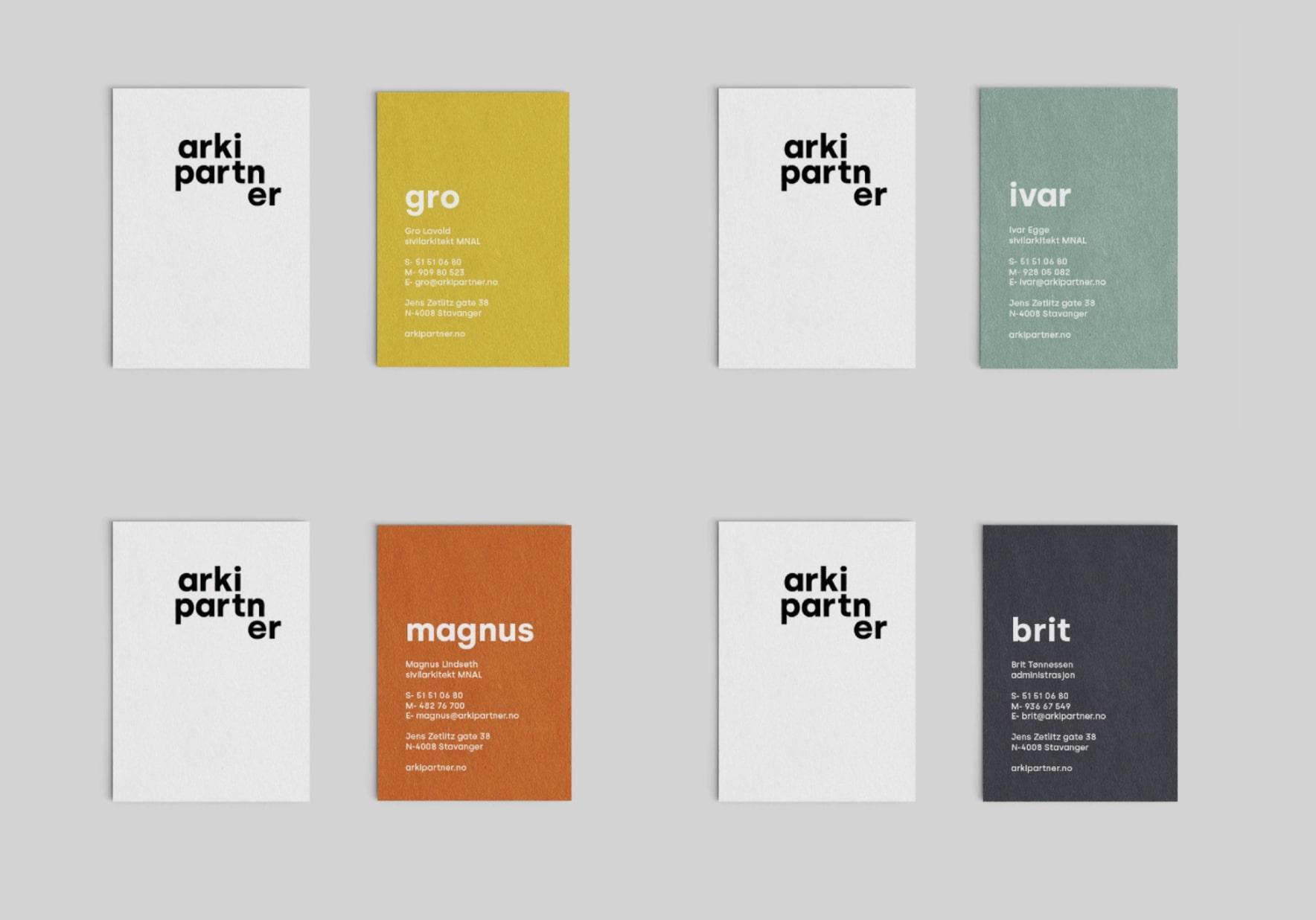 Arkipartner Visitkort Design