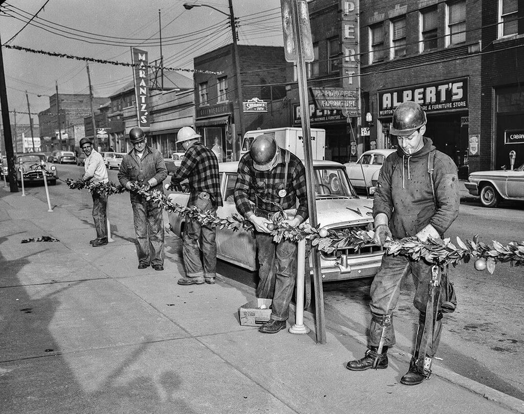 Black and white photo of Alperts - Marantz business in 1960's