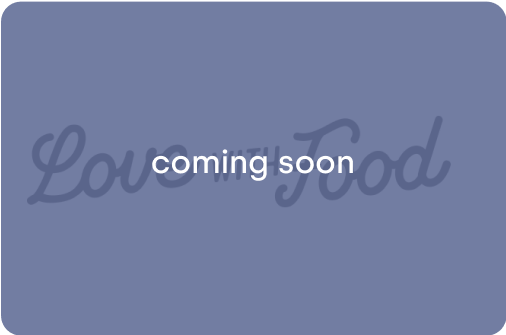 Curated snacks. Coming soon.
