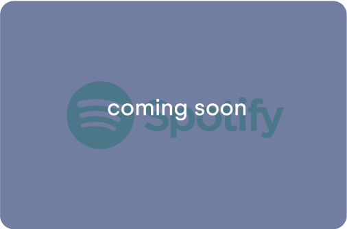 Millions of songs and podcasts. Coming soon.