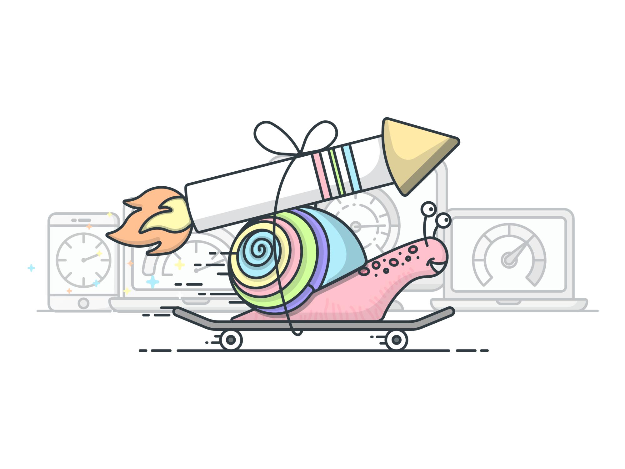 Rocket Snail by Jessica Johnson