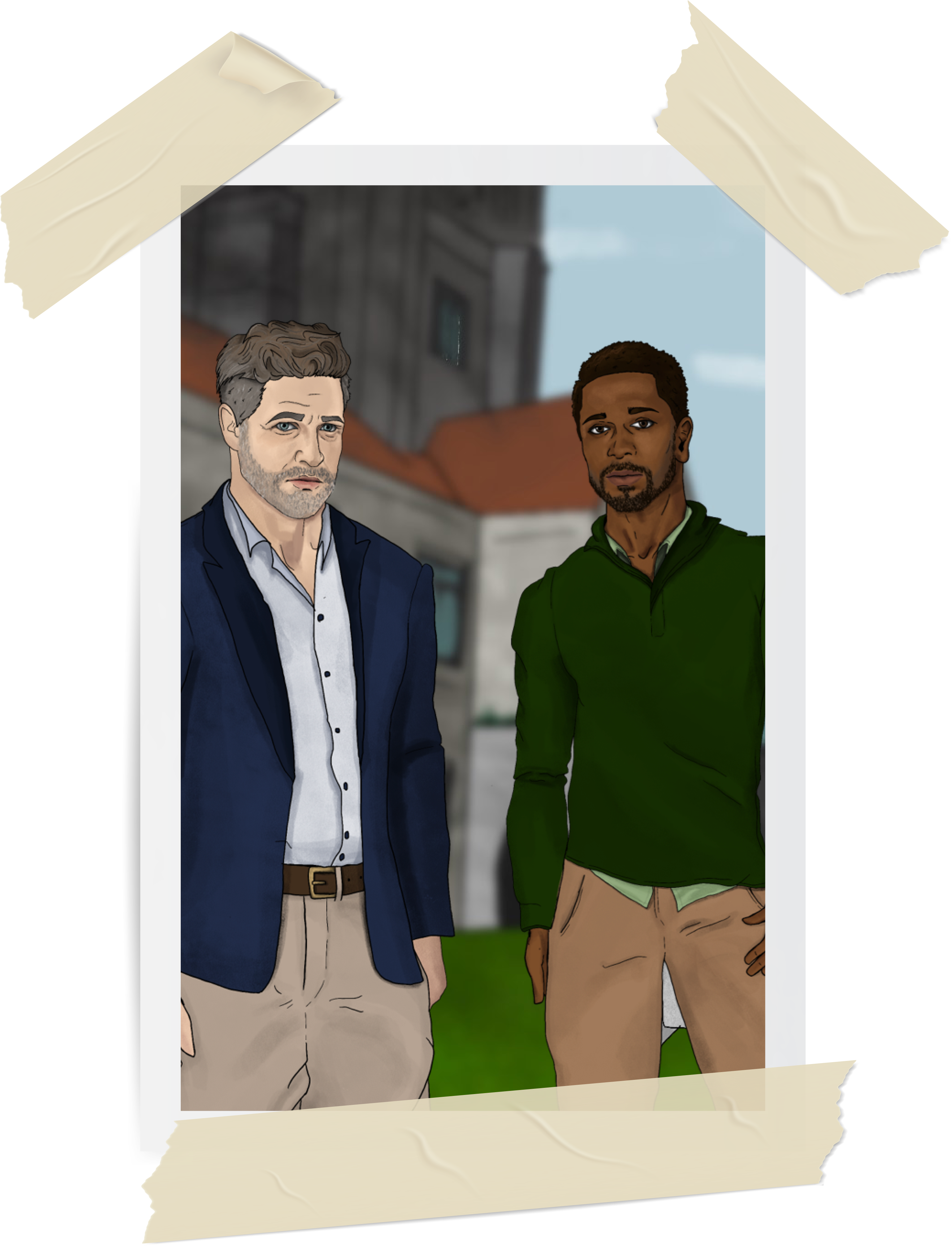 Dean Monroe and Thomas on Campus