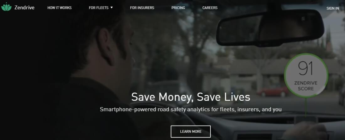 Screenshot: Zendrive Saves Money and Lives
