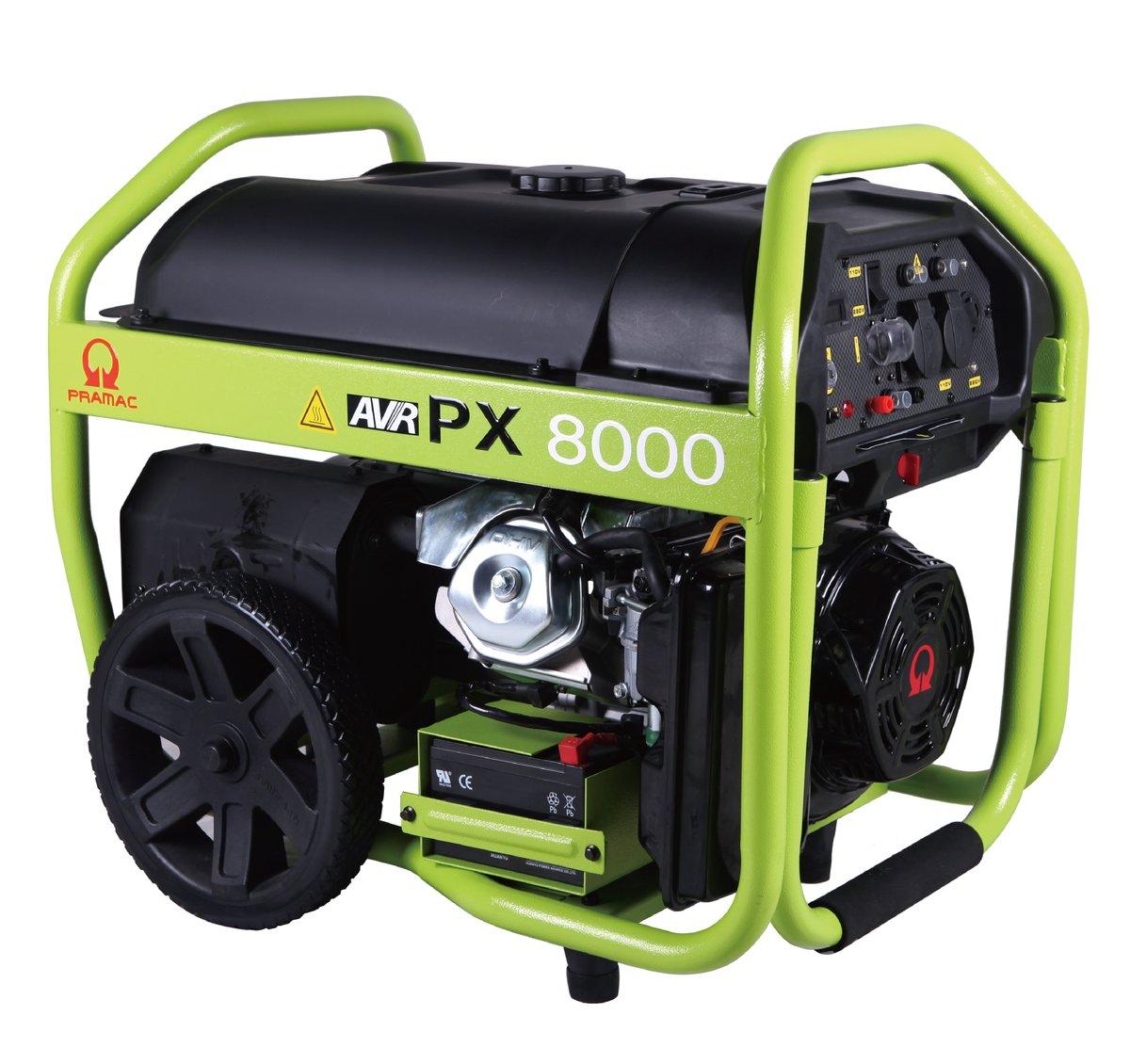 PRAMAC PX8000 Generator. Electric Start/Petrol.