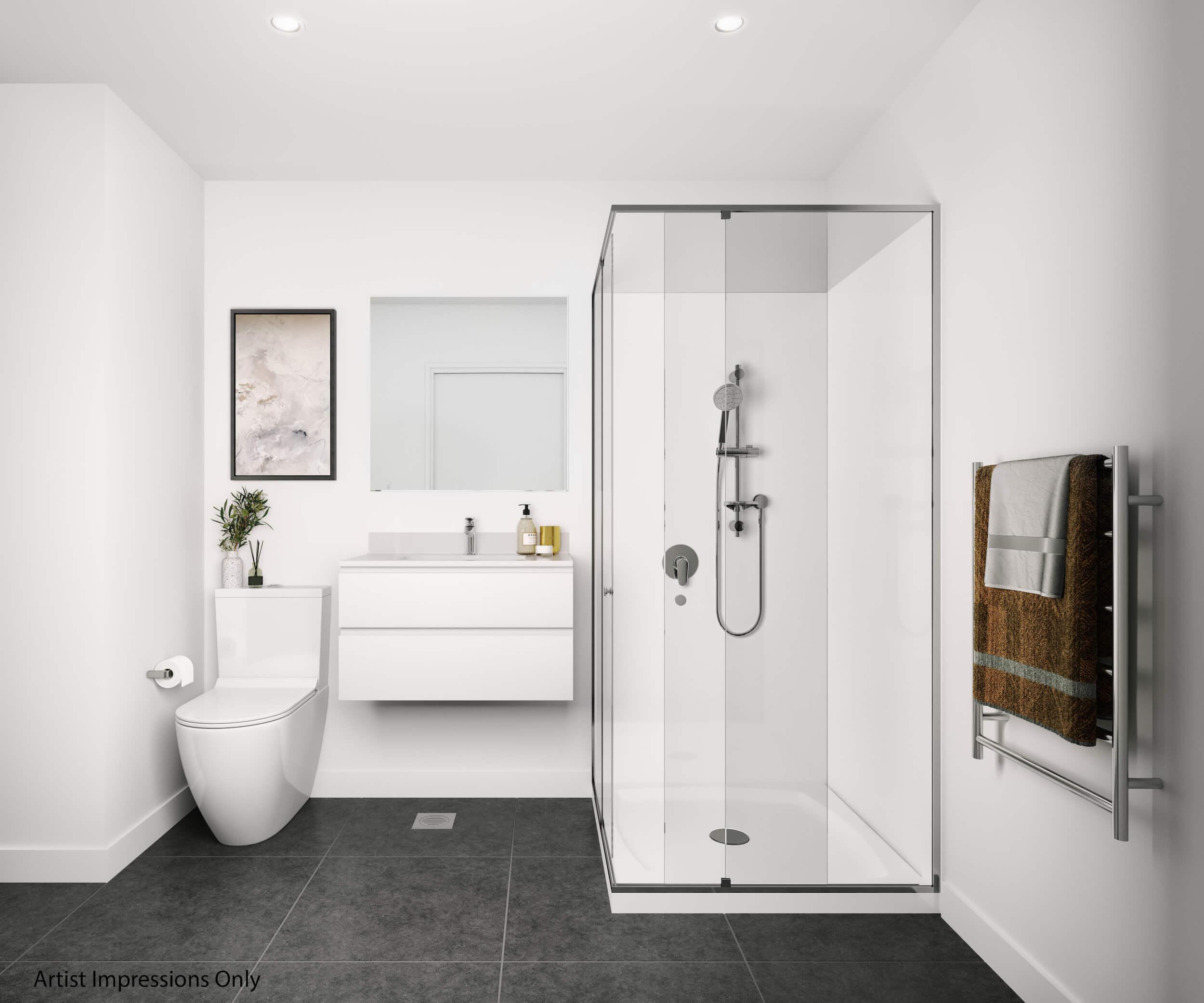Crown Lynn Yards Y-2 Apartments Bath