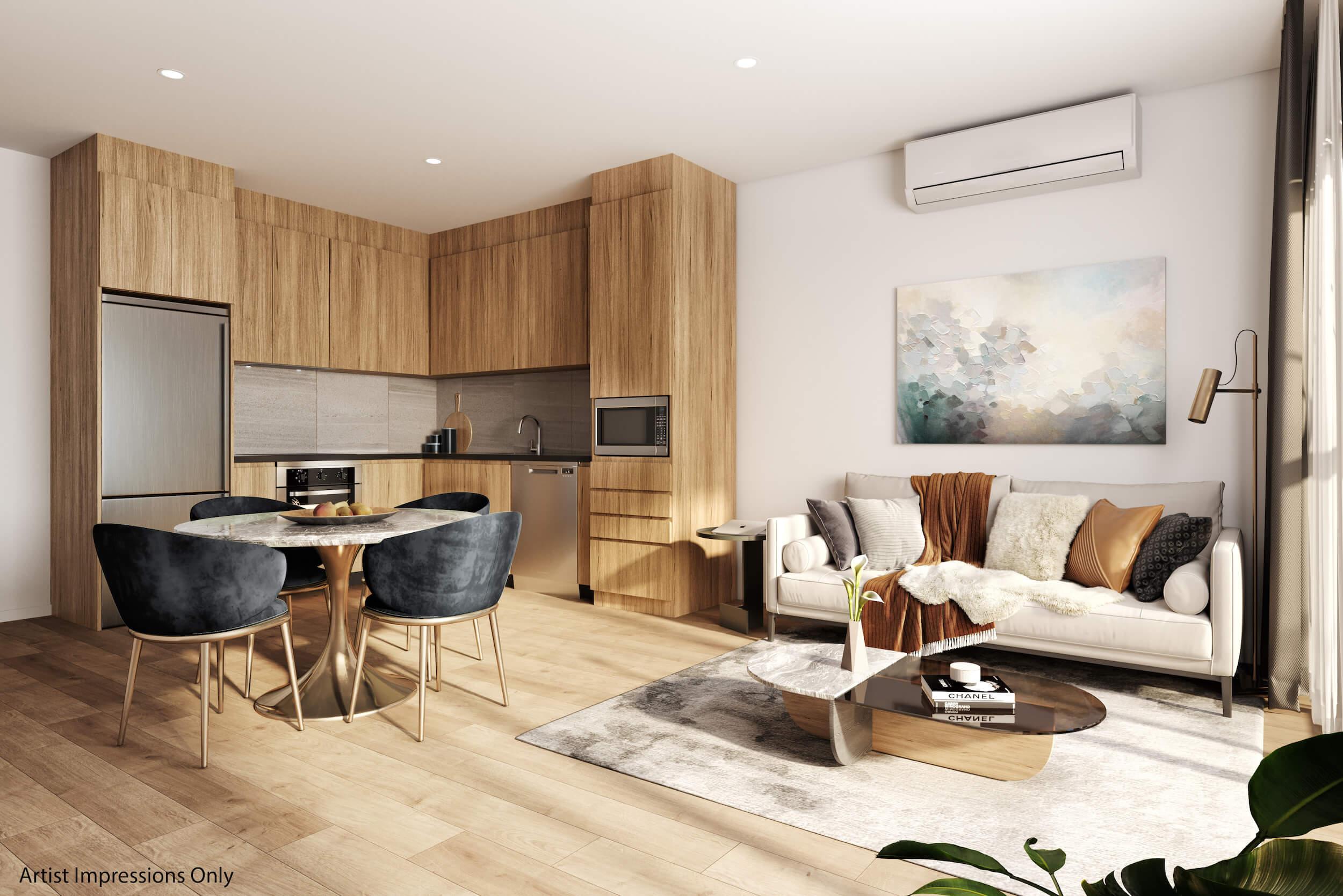 Crown Lynn Yards Y-2 Apartments Living