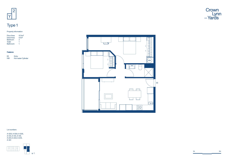 CLY Apartment Floor Plan Type 1