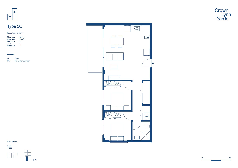 CLY Apartment Floor Plan Type 2C