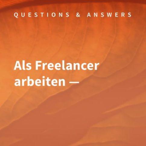 Podcast Cover Als Freelancer arbeiten