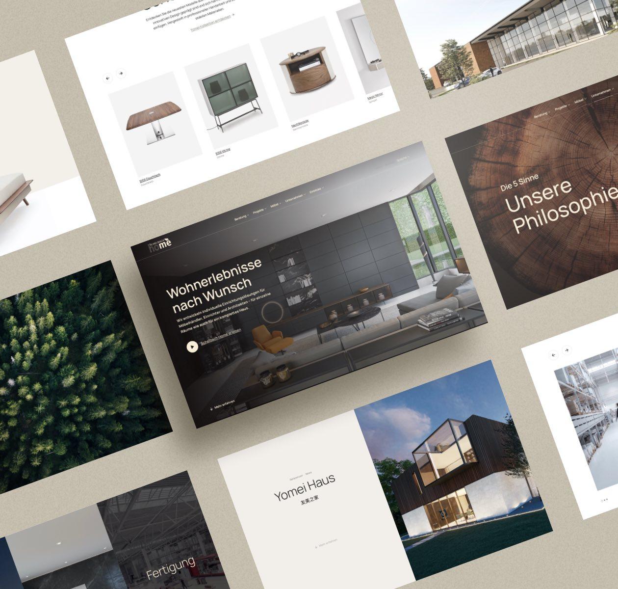 Schelbach Home Website Layout Collage