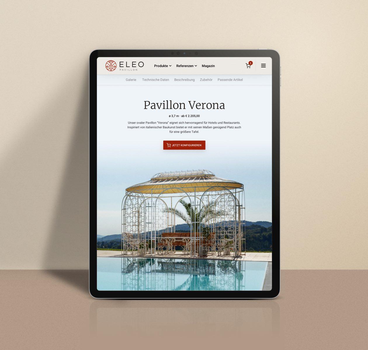 ELEO Pavillon Website Design