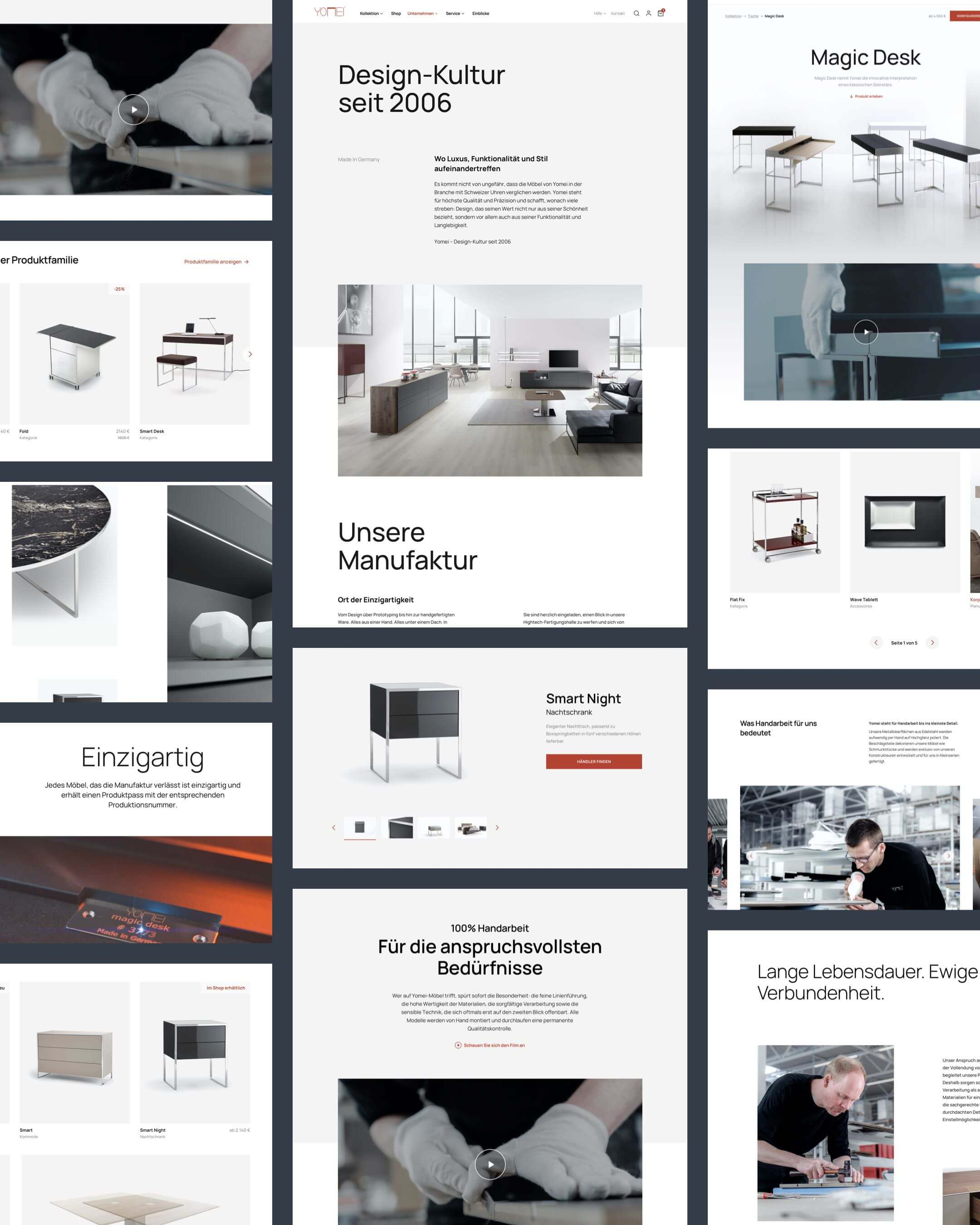 Yomei Website Layout Collage