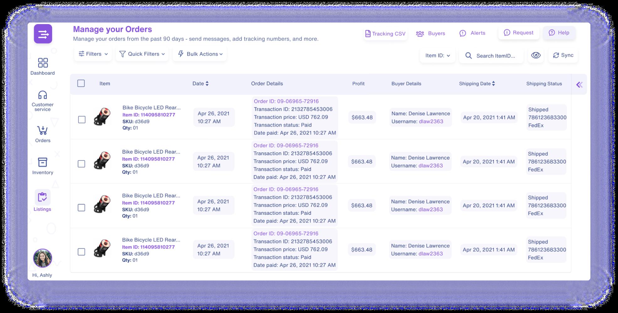 easychannel multichannel order manager screenshot