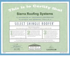 Certaineed Select Shingle Roofer Certificate