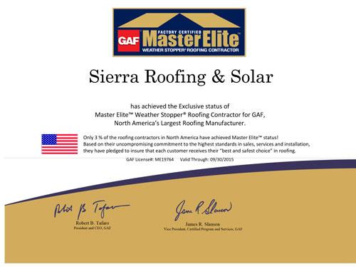 GAD Master Elite Certificate