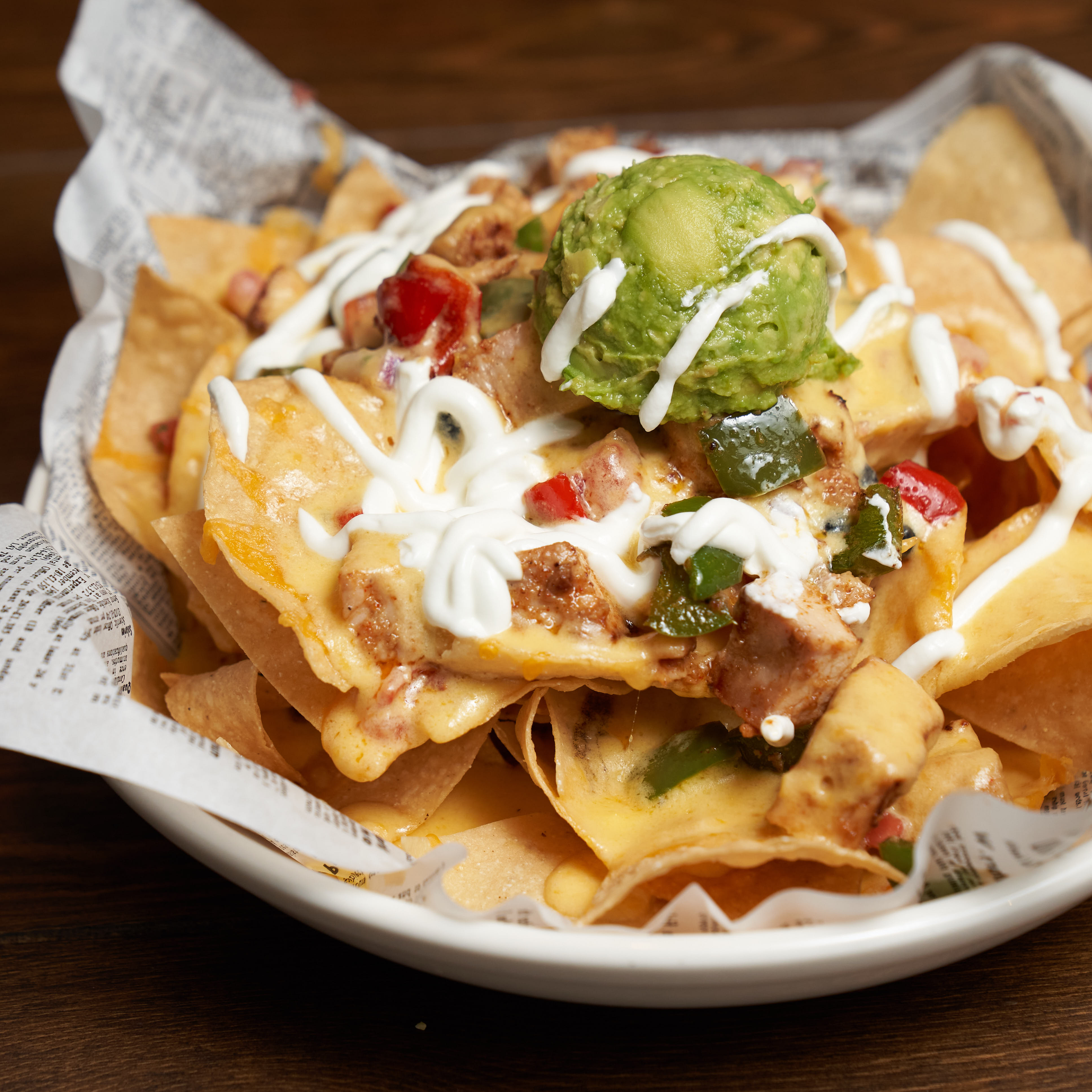 Pictured in this image is the nachos dish.