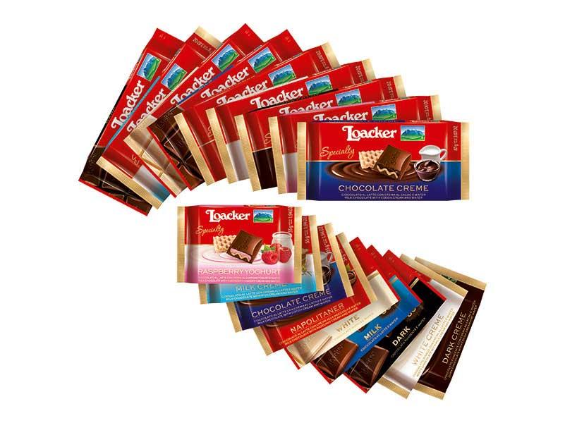 Loacker Cioccolato Specialty e Cioccolato Classic
