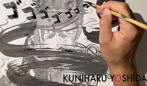 Drawing Anime with Calligraphy Techniques and Perspective
