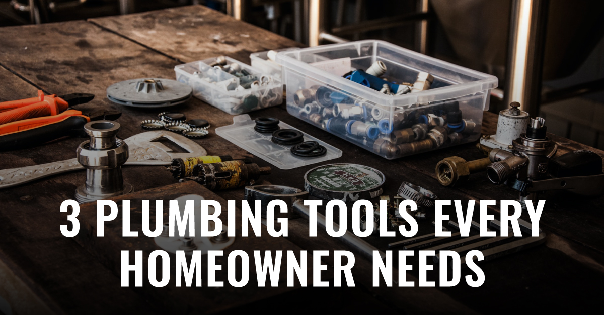 Think you can't take a stab at your plumbing problems yourself? Well, you might actually be able to; we've made a list with three plumbing tools that every homeowner needs to have!