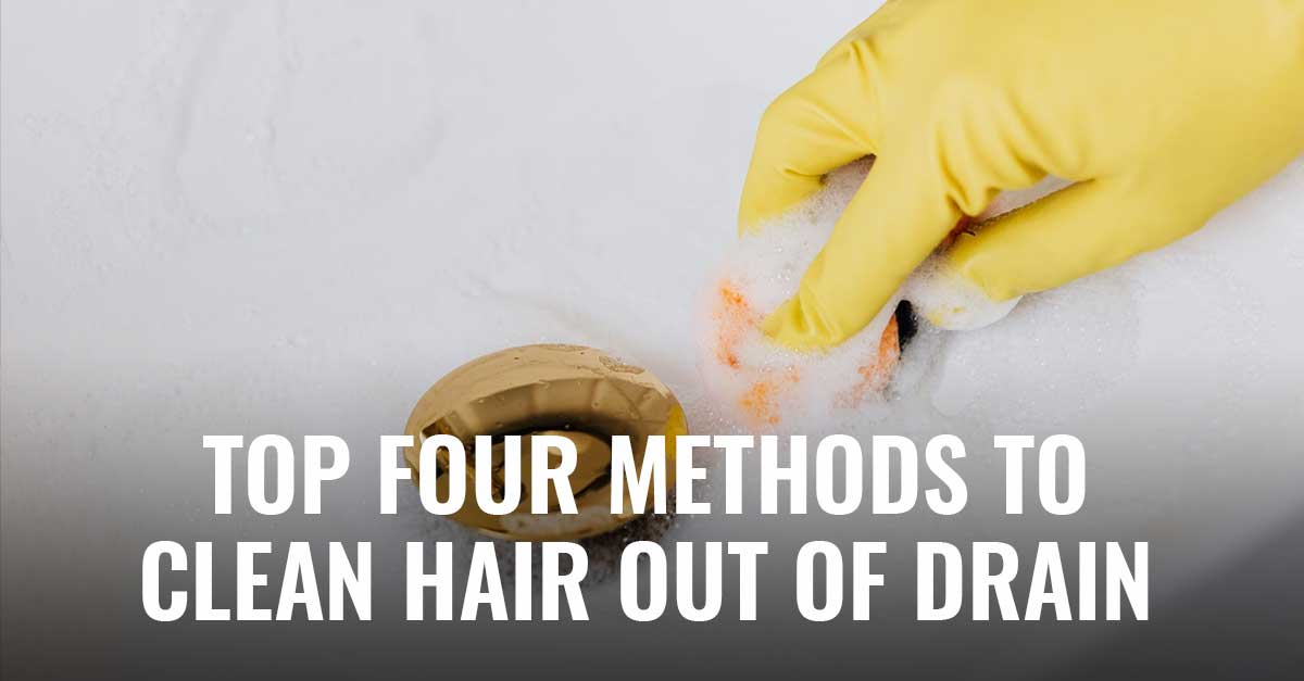 Whether you have long, luscious locks or even a few scant trimmings on top, you're likely to find that you or someone in your home clogged the drain with hair. And before you stick your fingers into the grimy, hairy mess, check out these five tips on how to clean hair out of the drain.
