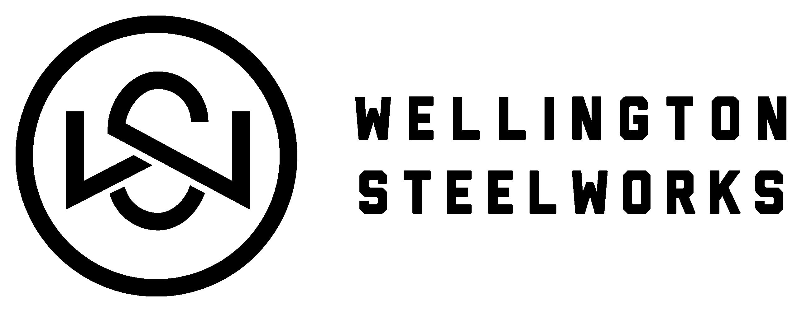 wellington steelworks logo full in black