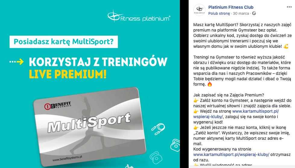 Fitness Platinium - multisport