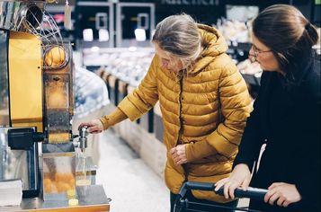 shopping with elderly