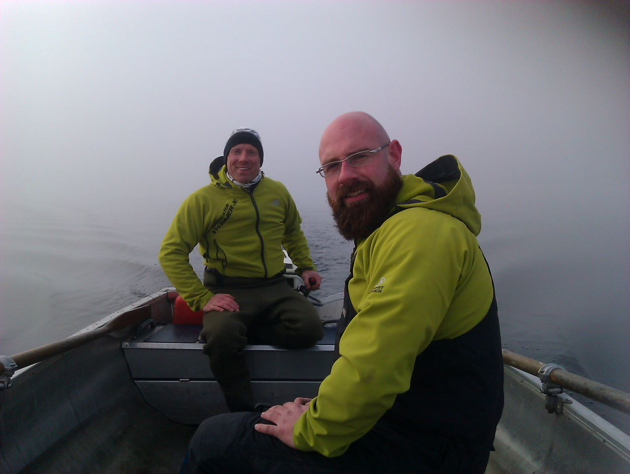 Wayne and Johnny preparing the routes. Open Water Swimmer's swim routes are laid out with the greatest consideration for local wildlife and fish stocks.