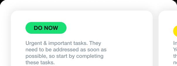 Daily task prioritizer template: Eisenhower matrix