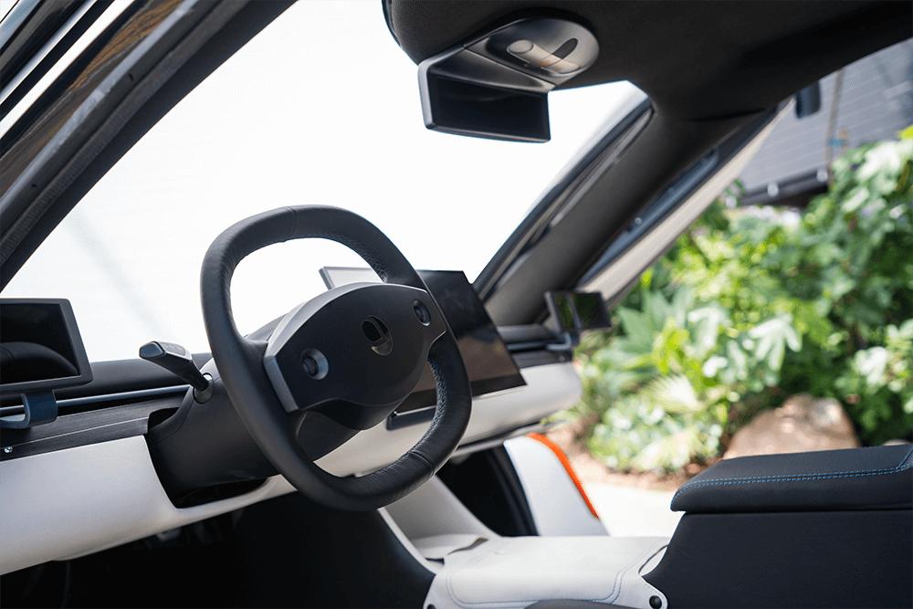 Interior of an Aptera vehicle