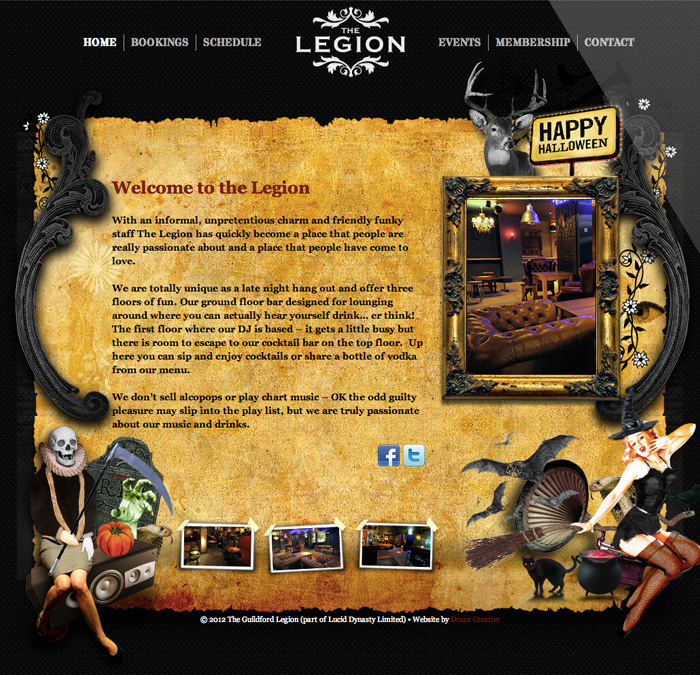 The Legion Website Gets Spooked!