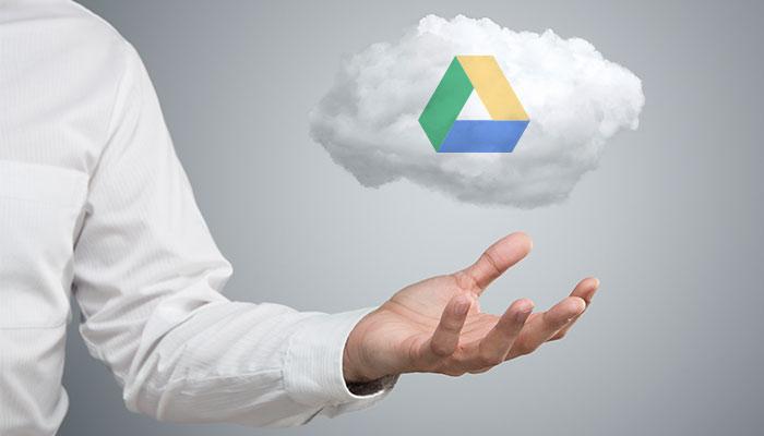 google drive logo on cloud