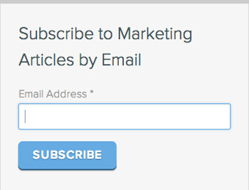 Email newsletter online form from Hubspot