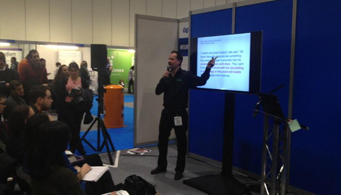 Ivan Imhoff at Digital Marketing Show 2014