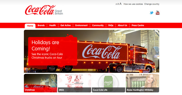 Coca Cola Truck marks the beginning of the festivity.