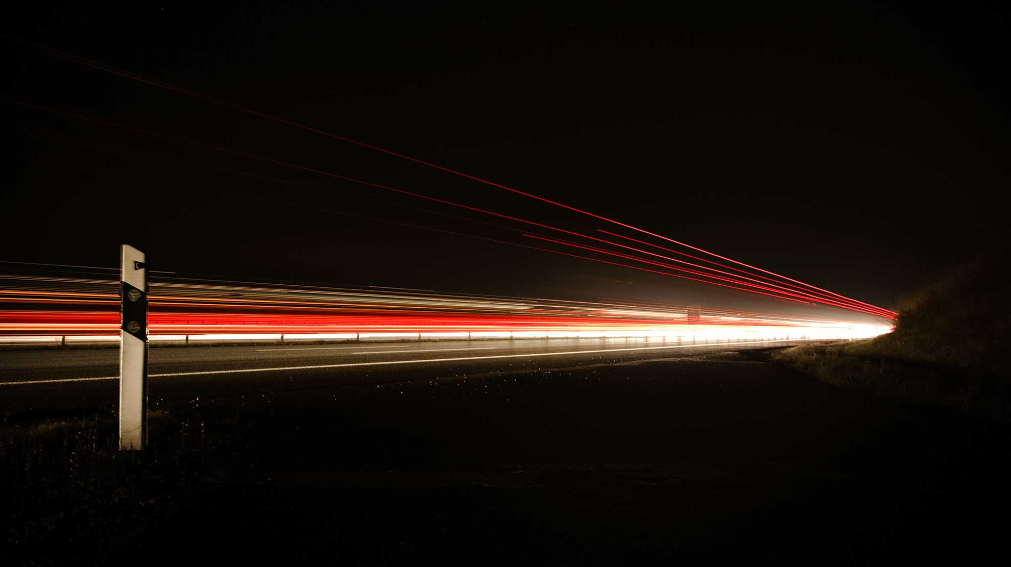 Red and white light caused by speedy object