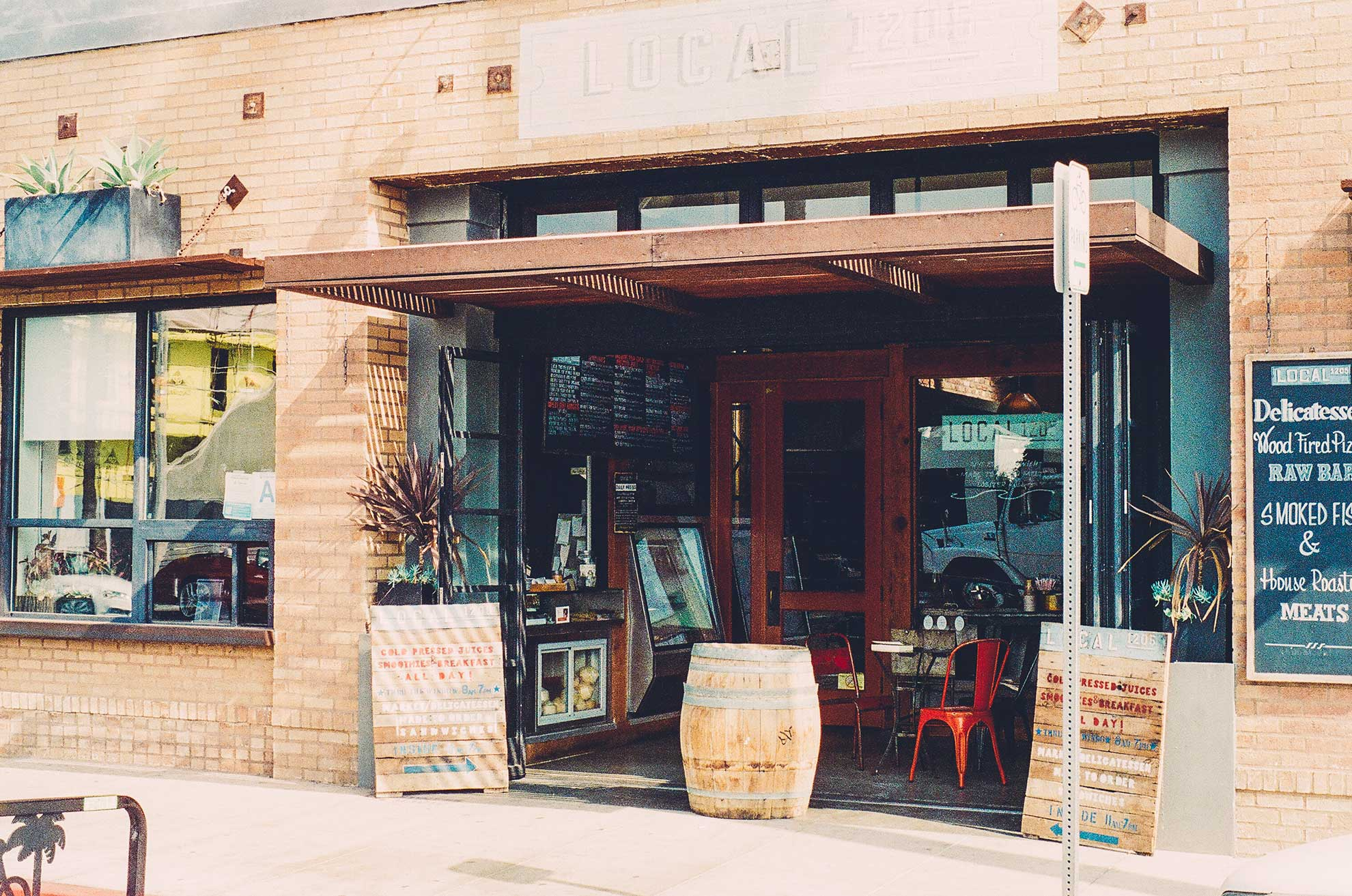 Restaurant shop front