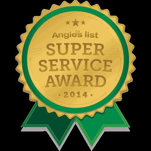 A 2014 Angie's List award badge.