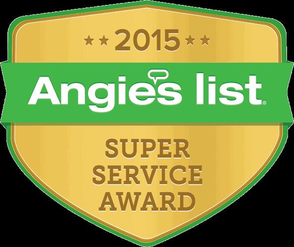 A 2015 Angie's List award badge.