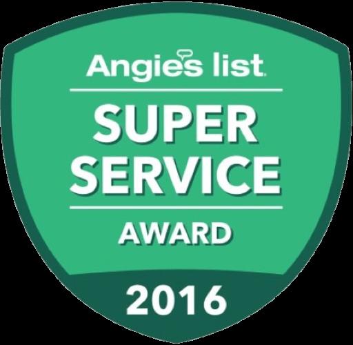 A 2016 Angie's List award badge.