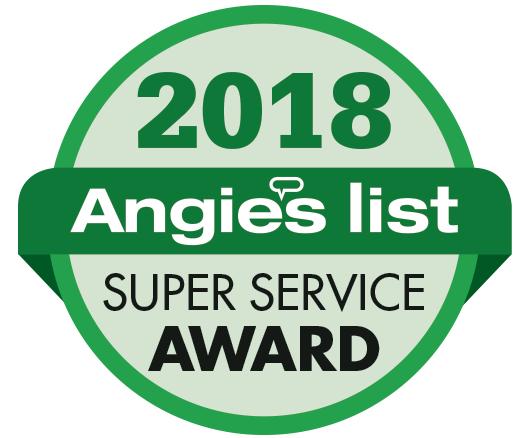 A 2018 Angie's List award badge.