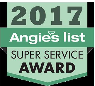 A 2017 Angie's List award badge.