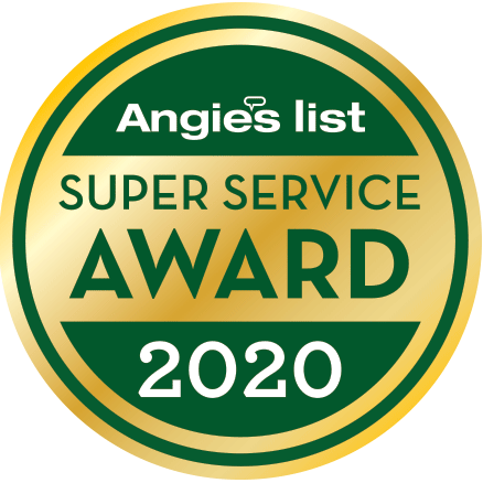 A 2020 Angie's List award badge.