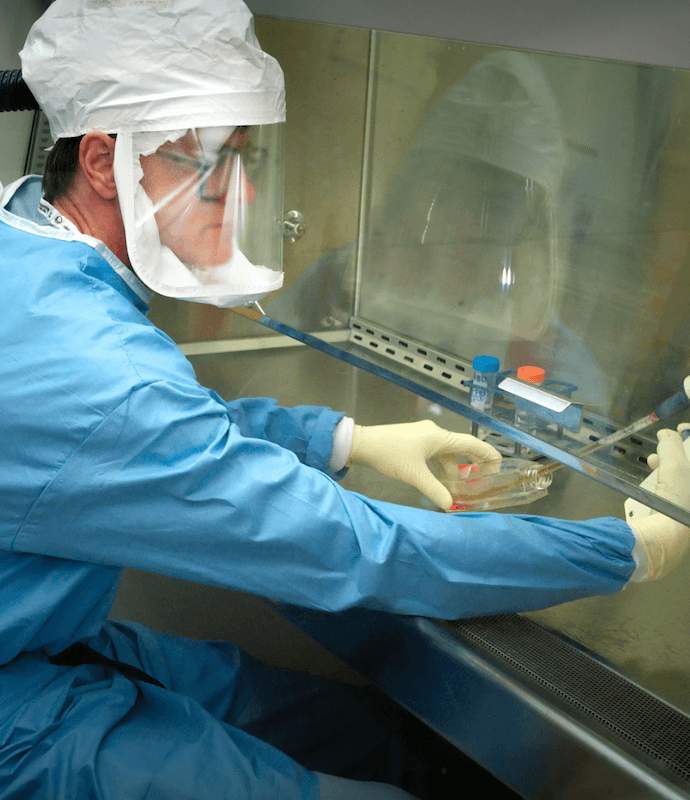 Person working in lab