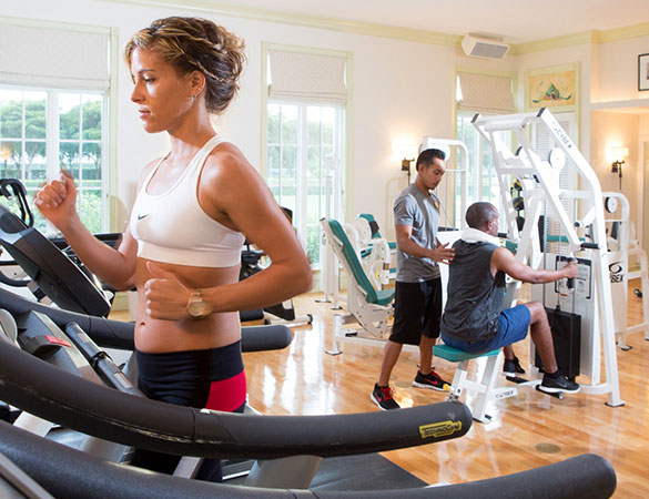 Exercise at the fitness centre