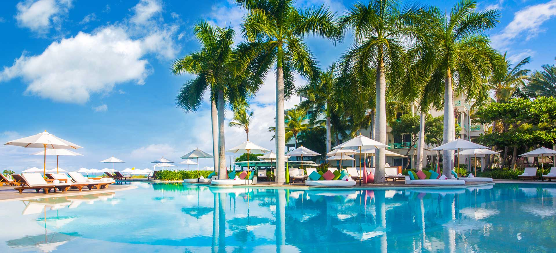 The beautiful pool at The Palms Turks and Caicos.