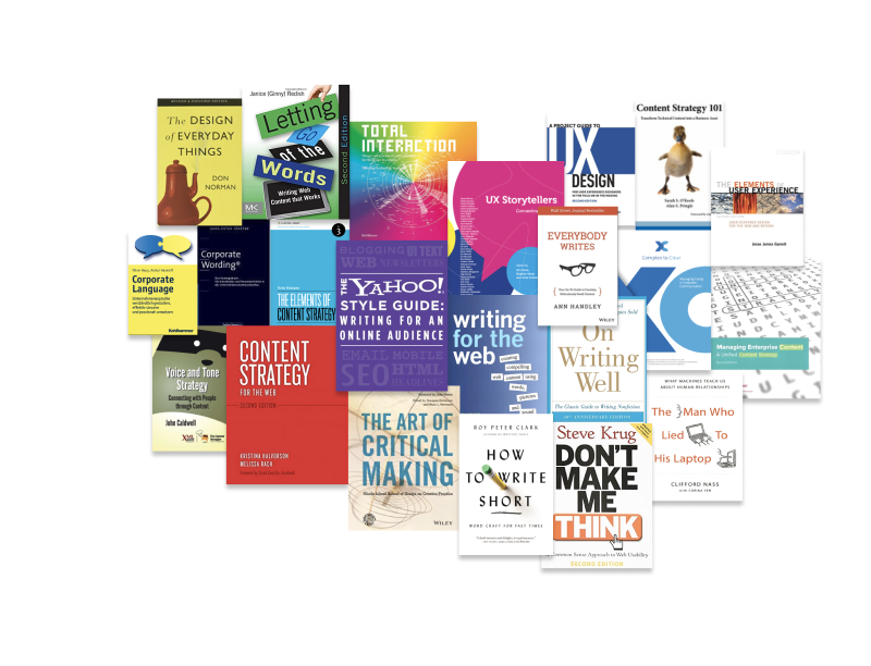 These are some of the books I studied to create Telekom's writing guidelines.