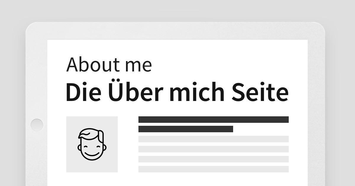 """Portfolio Redesign: Die """"Über mich"""" und Profil Seite erstellen"""