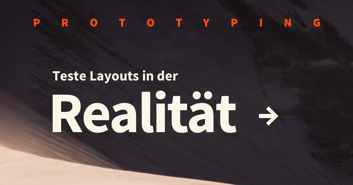 UI/UX Design Prototyping erklärt: Layouts und Ideen in der Realität testen